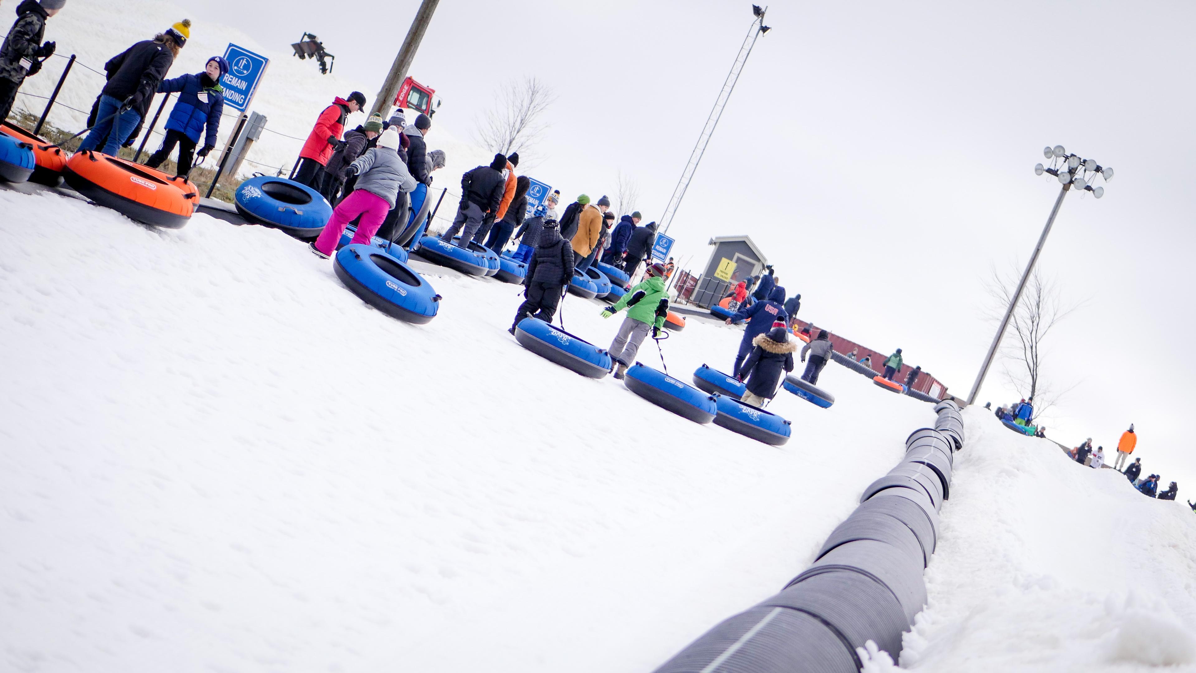 Snow Tubing At The Rock Snowpark